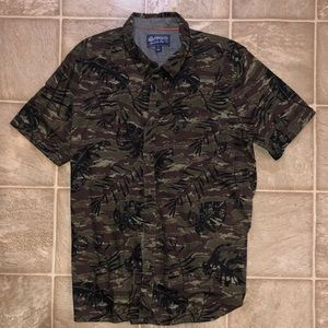 Men's button down Camo shirt